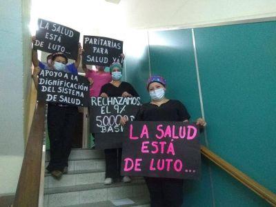 Realizan asambleas en hospitales provinciales contra la precariedad laboral