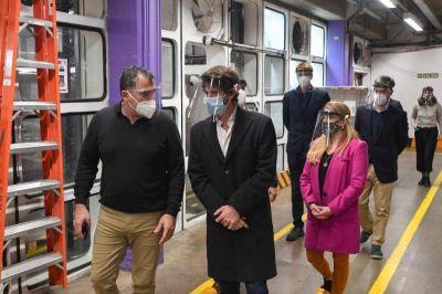 San Fernando: Andreotti y autoridades de PAMI firmaron convenio y visitaron la ampliación del Hospital Municipal