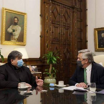 Casa Rosada El presidente Fernández recibió al intendente Mario Ishii nuevamente