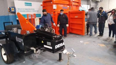 Erradicación de Basurales: Iniciaron capacitaciones para operar maquinarias de reciclaje