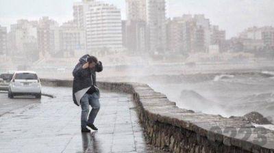 Sigue el alerta naranja por vientos de hasta 90 km/h en Mar del Plata y la costa
