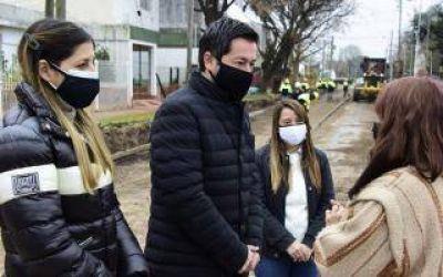 Malvinas Argentinas: Nardini visitó obras de pavimentación en Los Polvorines
