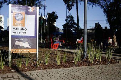 El Municipio inauguró la Plaza Mariano Moreno, en Sáenz Peña