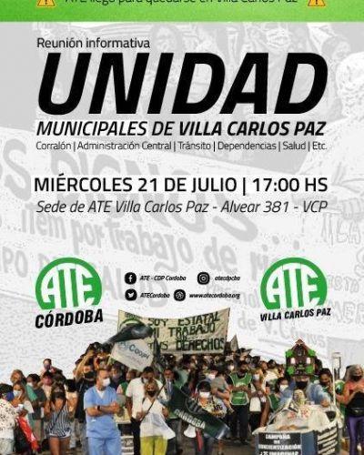 ATE invita a empleados municipales a organizarse 'en defensa de sus derechos contra una patronal arbitraria e injusta'