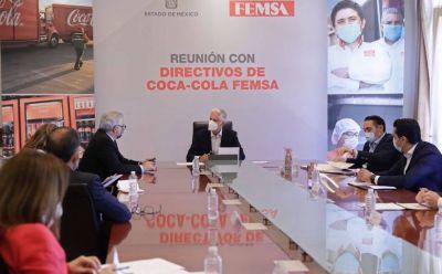 Alfredo Del Mazo se reúne con directivos de FEMSA