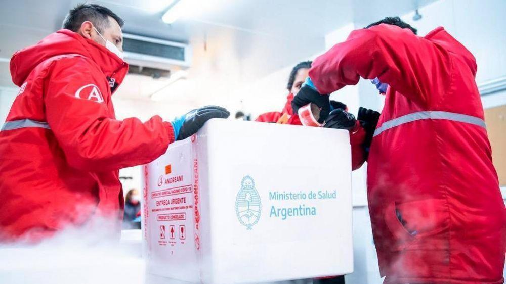 La Argentina se acerca a los 40 millones de dosis recibidas