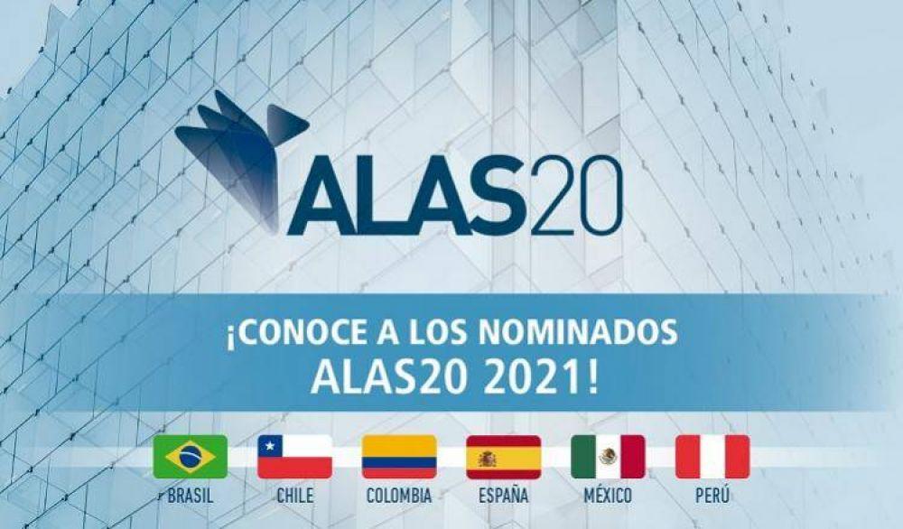 Dieron a conocer los nominados 2021 de la iniciativa ALAS20