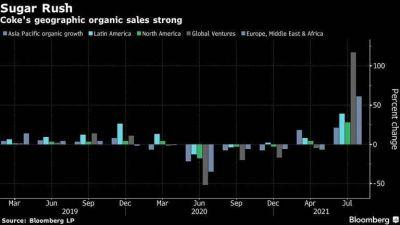 Ventas de Coca-Cola crecen en segundo trimestre por reaperturas