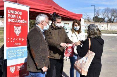 Julio Zamora entregó más de 100 pares de anteojos a vecinos y vecinas de Tigre
