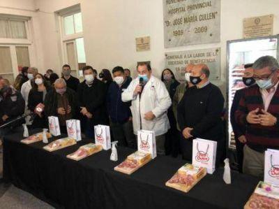 Reconocimiento multisectorial de gastronómicos y el sindicato de la carne para 1500 trabajadores del Hospital Cullen en Santa Fe