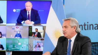 """Alberto Fernández negó una """"dependencia geopolítica"""" con Putin y defendió la carta enviada a Moscú para reclamar por las 13 millones de dosis 2 que aún adeuda Rusia"""