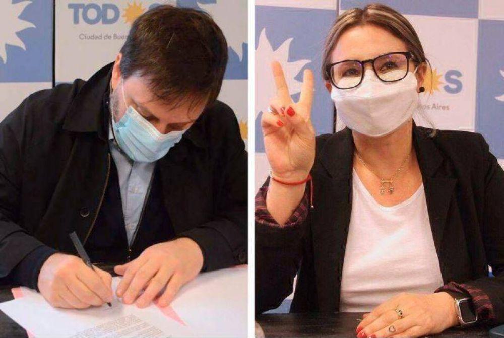 Leandro Santoro y Gisela Marziotta encabezan la lista de candidatos a diputados del Frente de Todos por la Ciudad