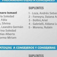 El Frente de Todos presentó su lista con Amaro Sarlo a la cabeza
