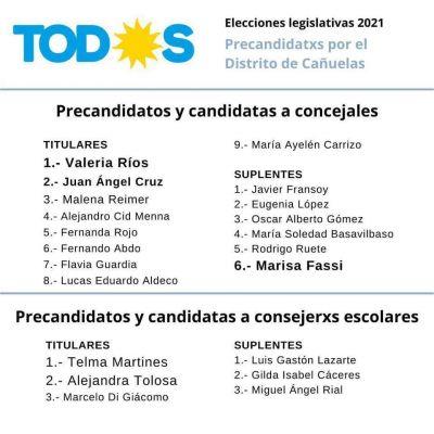 Frente de Todos Cañuelas definió sus candidatos