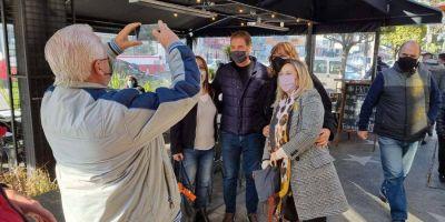 Santilli desembarcó en La Matanza para su primera recorrida de campaña