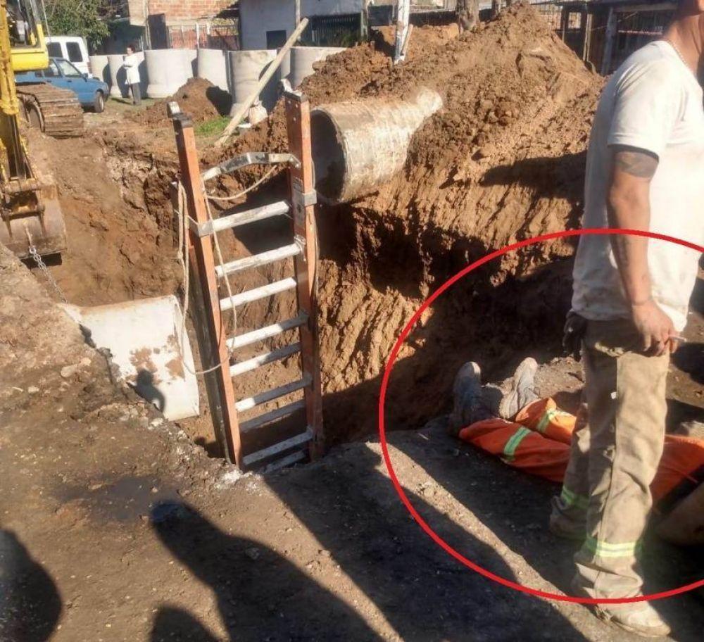 Quilmes Oeste: Obrero falleció aplastado por un caño en una obra