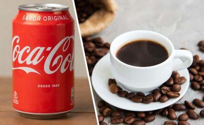¿Qué cantidad de cafeína nos aporta una lata de Coca-Cola en comparación a un café?