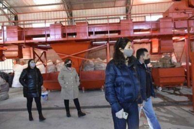 Rocío Campos recorrió obras en Puerto Deseado: