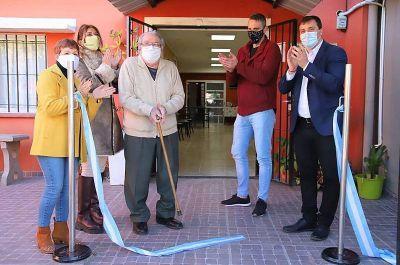 Chornobroff y Sierra inauguraron obras en el Centro de Jubilados Unión de Domínico