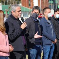 Los ministros Ferraresi y Lammens inauguraron el gimnasio de musculación y los vestuarios del Domínico Alto Rendimiento