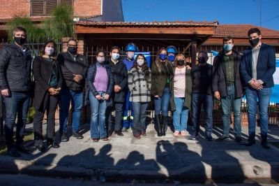 Morón: Ghi y Galmarini inauguraron una nueva red cloacal