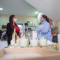 Elisa Abella visitó a dos nuevas emprendedoras