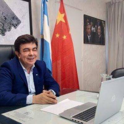Espinoza mantuvo un encuentro con el embajador chino en Argentina
