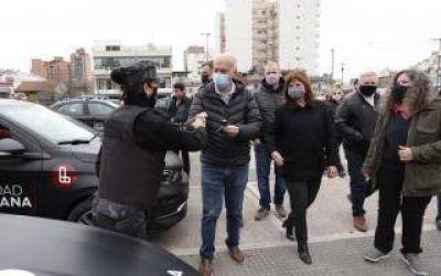 Lanús: Junto a Patricia Bullrich, Grindetti presentó 35 patrulleros para el área de seguridad municipal