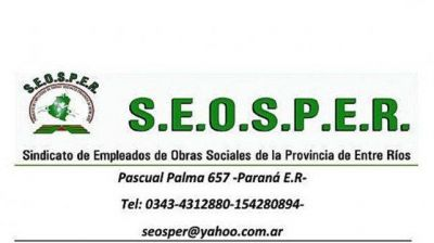 Sindicato de Empleados de Obras Sociales de la Provincia de Entre Ríos repudia al presidente de Iosper