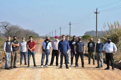 El intendente se reunió con productores por los caminos rurales