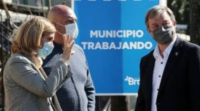 El municipio de Almirante Brown y Aysa avanzan con nuevas obras