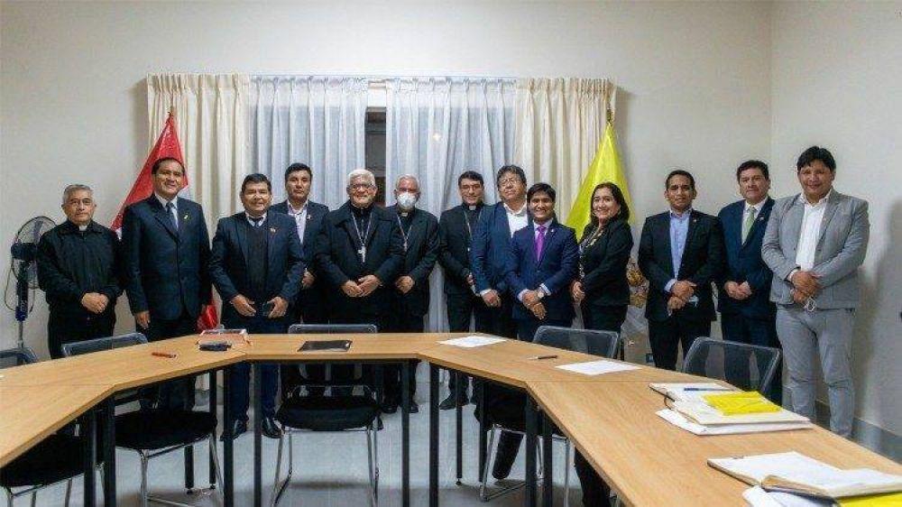 Reunión entre congresistas de pueblos originarios y presidente de la CEP