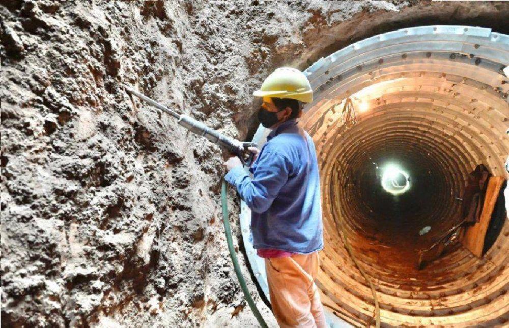 Monte Grande: finalizan la conexión por debajo de las vías de la obra hídrica de Colón