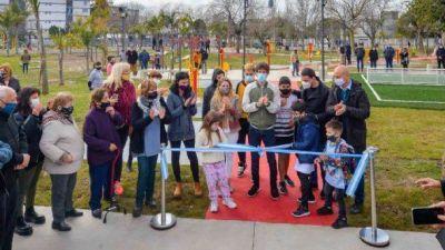 Juan Andreotti inauguró la renovación de la Plaza Infico