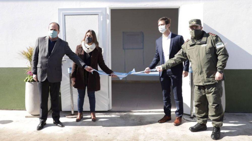 San Vicente: Frederic inauguró una Base Operativa de Gendarmería