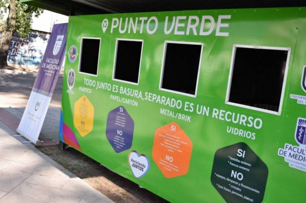 Reciclaje: sumaron un punto verde y seguirán habilitando en otros barrios