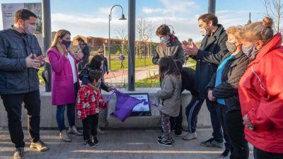 Juan Andreotti inauguró un gran parque donde antes había un zanjón a cielo abierto