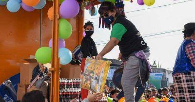 Los Camioneros Solidarios festejaron el Día de la Niñez en Albertina