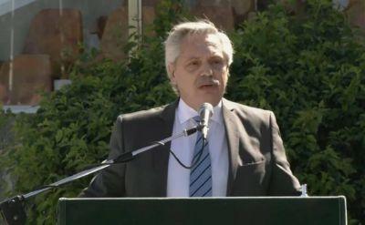 Alberto Fernández, recargado en La Matanza: