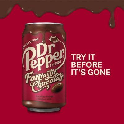 Dr. Pepper presenta su refresco con sabor a chocolate y se desata la locura