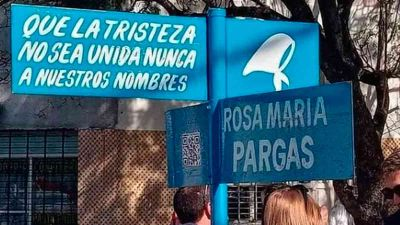 Memoria activa en Lomas de Zamora: Señalizaron la esquina de Beltrán y Sixto Fernández