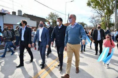 Watson, Massa y Bianco inauguraron importante obra vial en Florencio Varela
