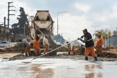 Merlo | Avanza la construcción de la rotonda en la intersección de la Ruta N°21 y la Ruta N°1003