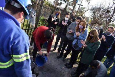 San martín: Nueva red de cloacas beneficiará a más usuarios de Loma Hermosa