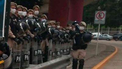 Gran operativo de seguridad en Avellaneda, frente la protesta convocada por organizaciones