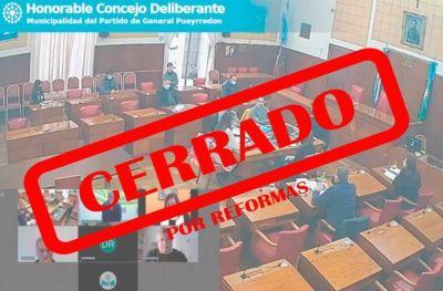 Cerrado por reformas: no habrá actividad en el Concejo Deliberante