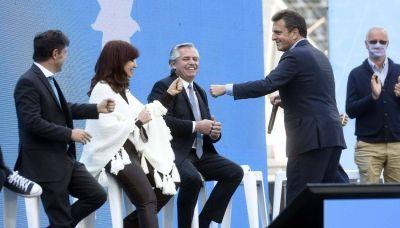 Alberto en el acto del Frente de Todos: