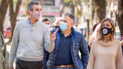 Florencio Randazzo en Lobos, apoyando la lista local que encabeza Francisco Sala