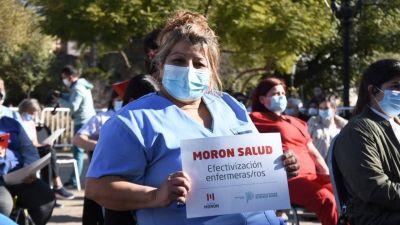 180 trabajadores de salud de Morón pasaron a planta permanente
