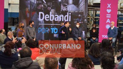 Fuerte respaldo nacional y provincial a Juan Debandi y los candidatos del Frente de Todos en Tres de Febrero